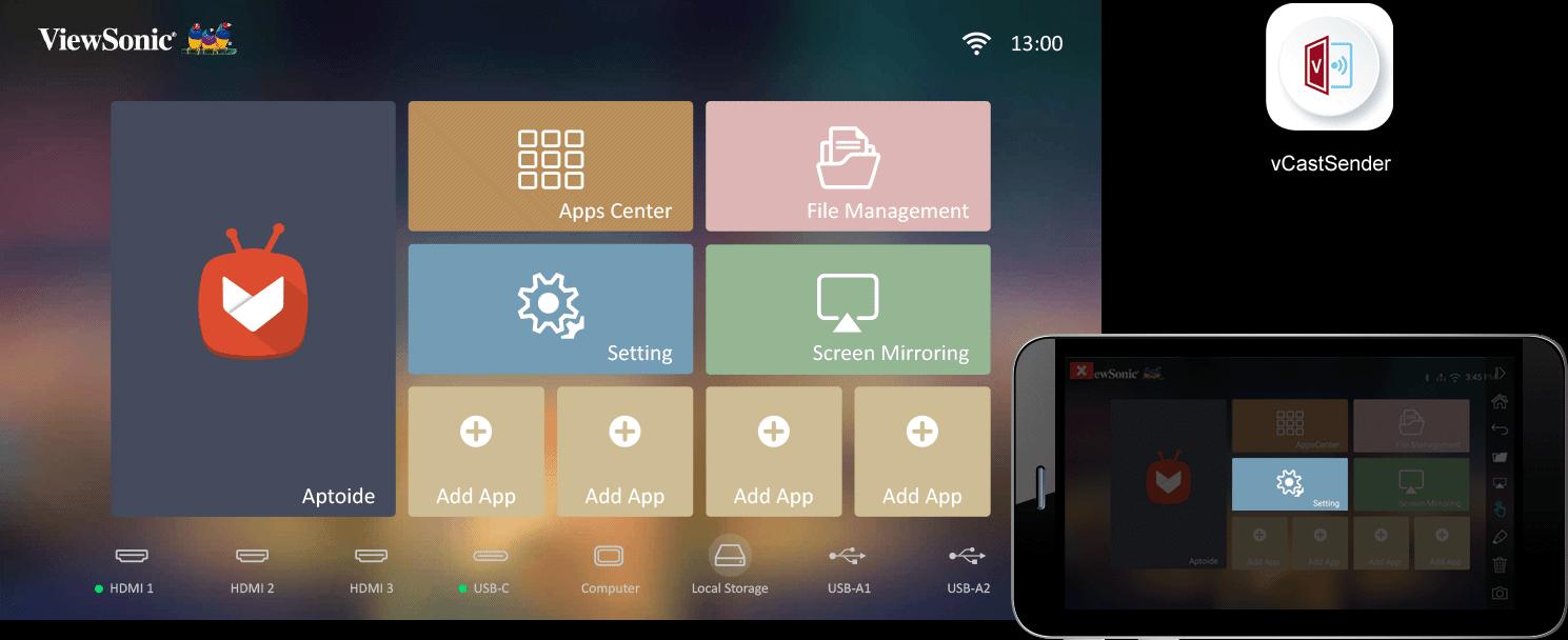Máy chiếu Android ViewSonic-X100-4K
